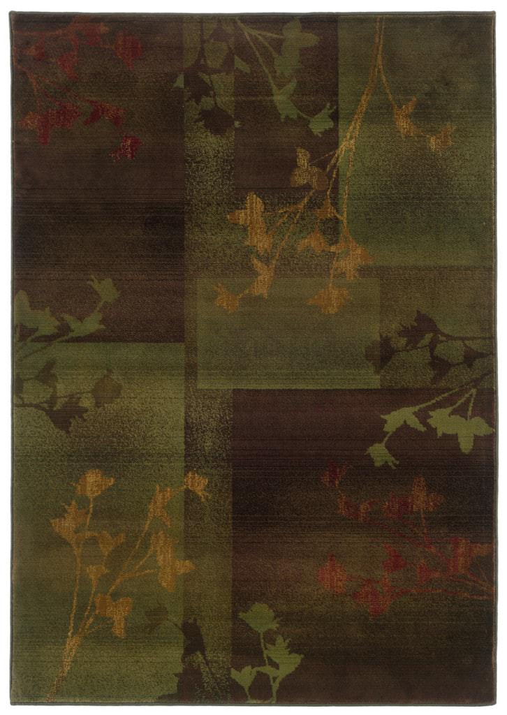 Oriental Weavers Kharma Ii KHR 1048D Purple / Green Rug