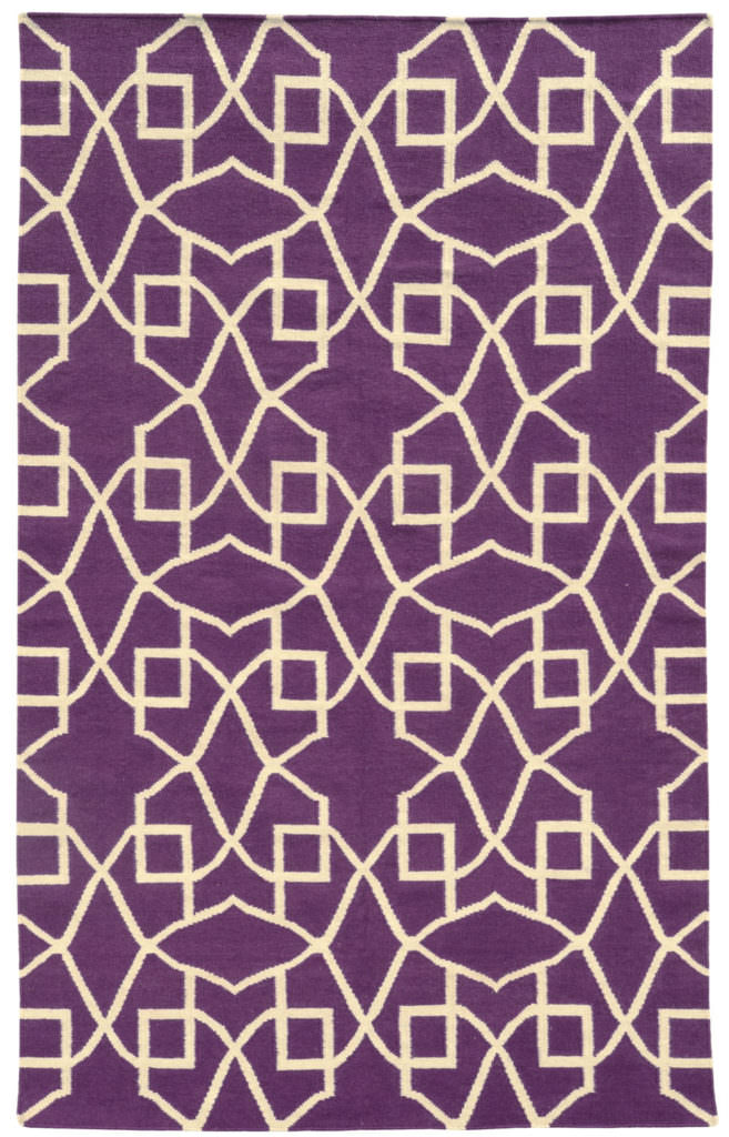 MAT 4267J Purple / Ivory Rug
