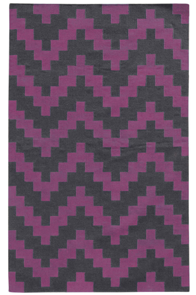 MAT 4714K Purple / Grey Rug