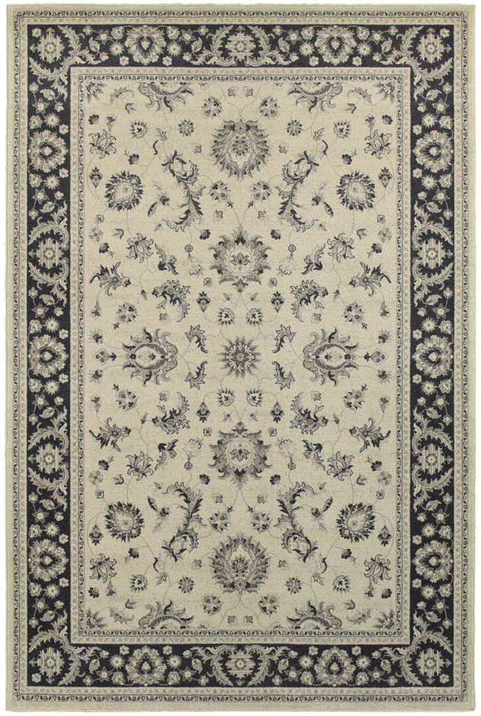 Oriental Weavers Richmond RIC 117W3 Ivory / Navy Rug