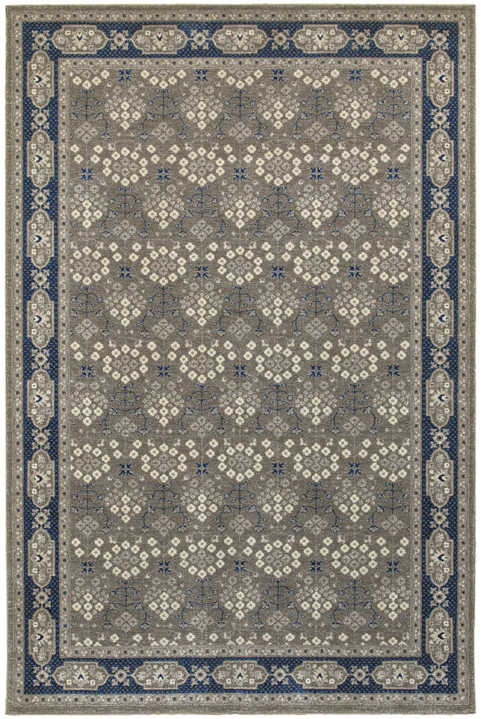 Oriental Weavers Richmond RIC 119U3 Grey / Navy Rug
