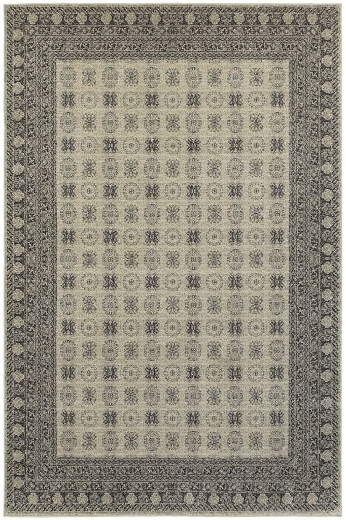 Oriental Weavers Richmond RIC 4440S Ivory / Grey Rug