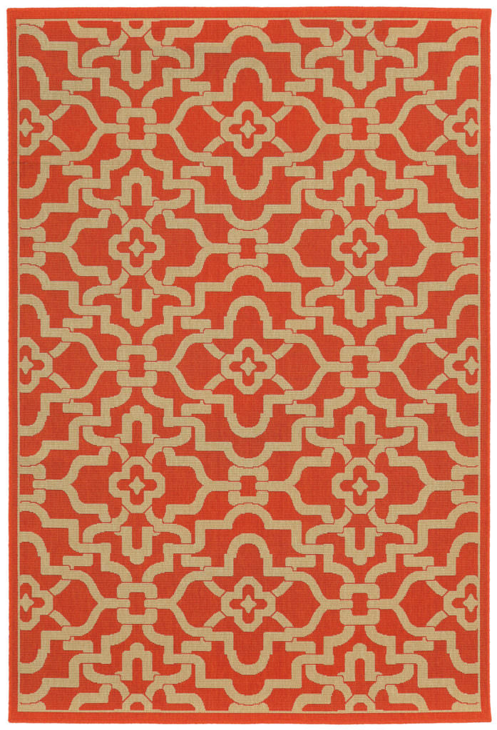 Tommy Bahama Seaside SES 3361R Orange / Beige Rug