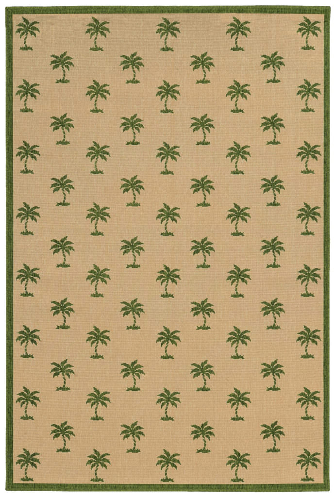 Tommy Bahama Seaside SES 7126G Beige / Green Rug