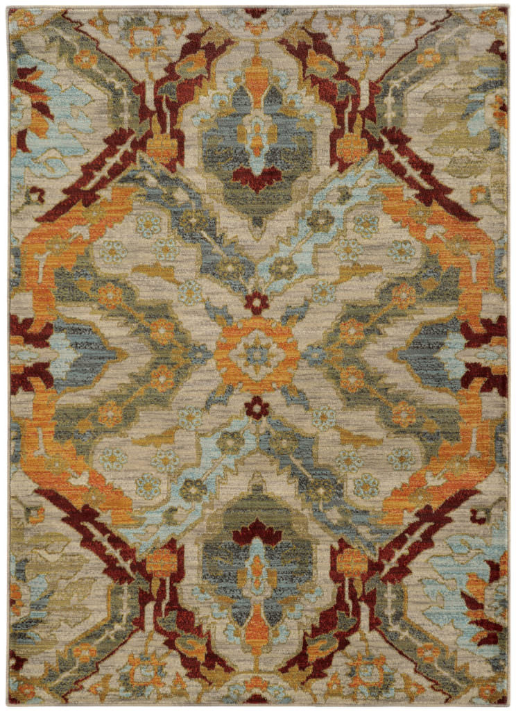 Oriental Weavers Sedona SDN 6357A Beige / Orange Rug