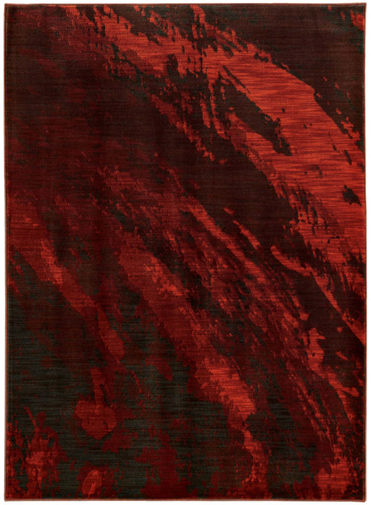 Oriental Weavers Sedona SDN 6367B Red / Charcoal Rug