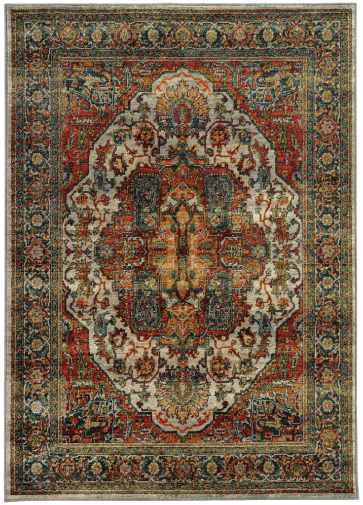 Oriental Weavers Sedona SDN 6382B Red / Multi Rug