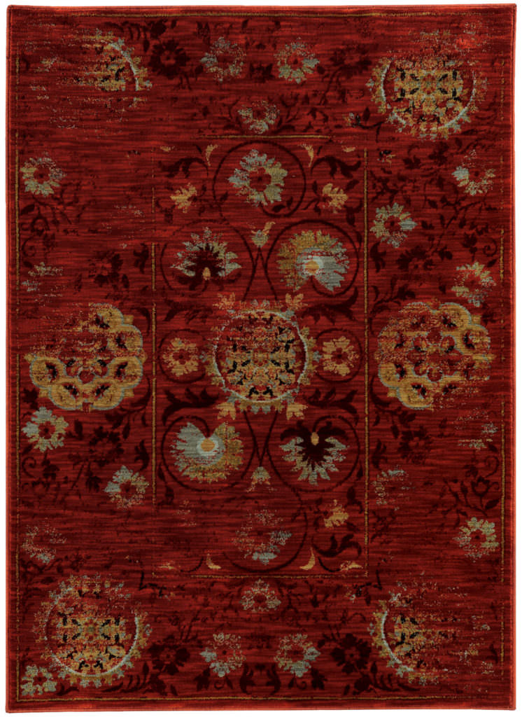 Oriental Weavers Sedona SDN 6386E Red / Gold Rug