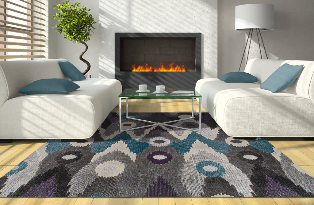 Dalyn Grand Tour GT116 Graphite Rug Room View