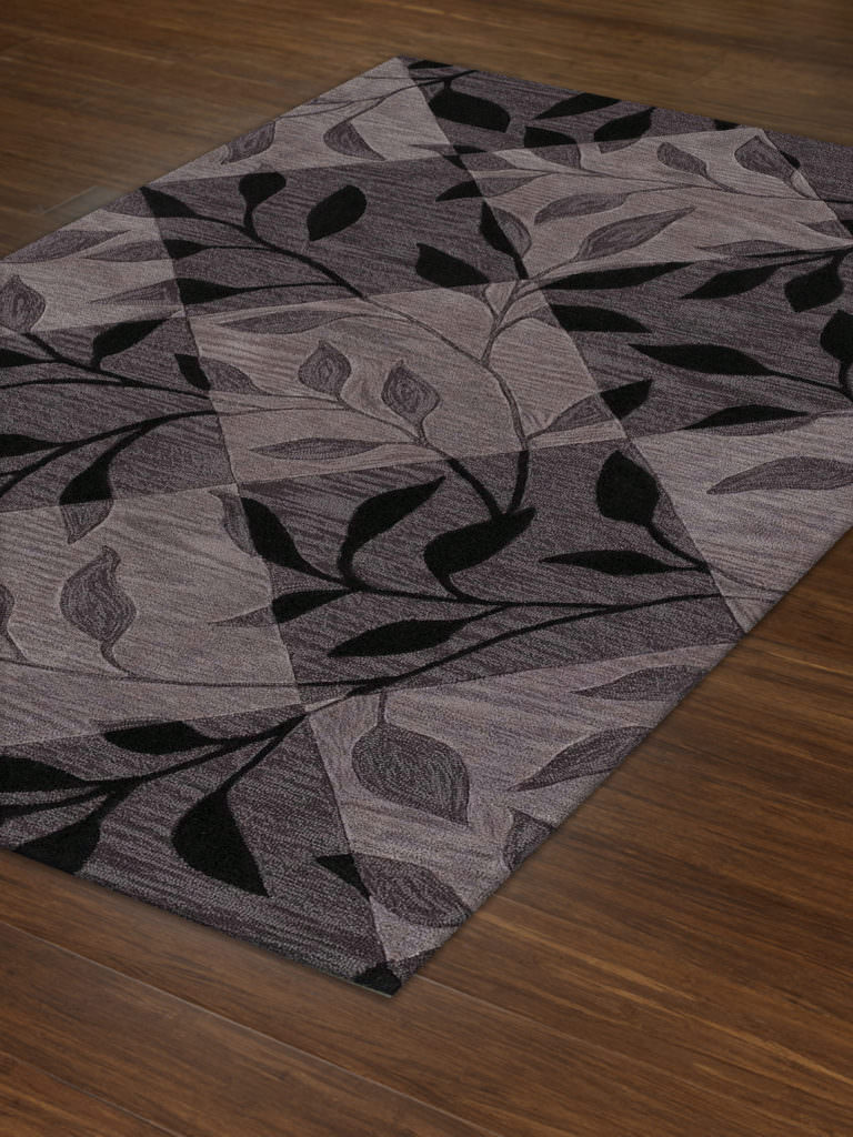 Dalyn Studio SD21 Black Rug Floor View