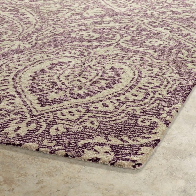 Kaleen Weathered WTR01-95 Purple Rug Close-Up
