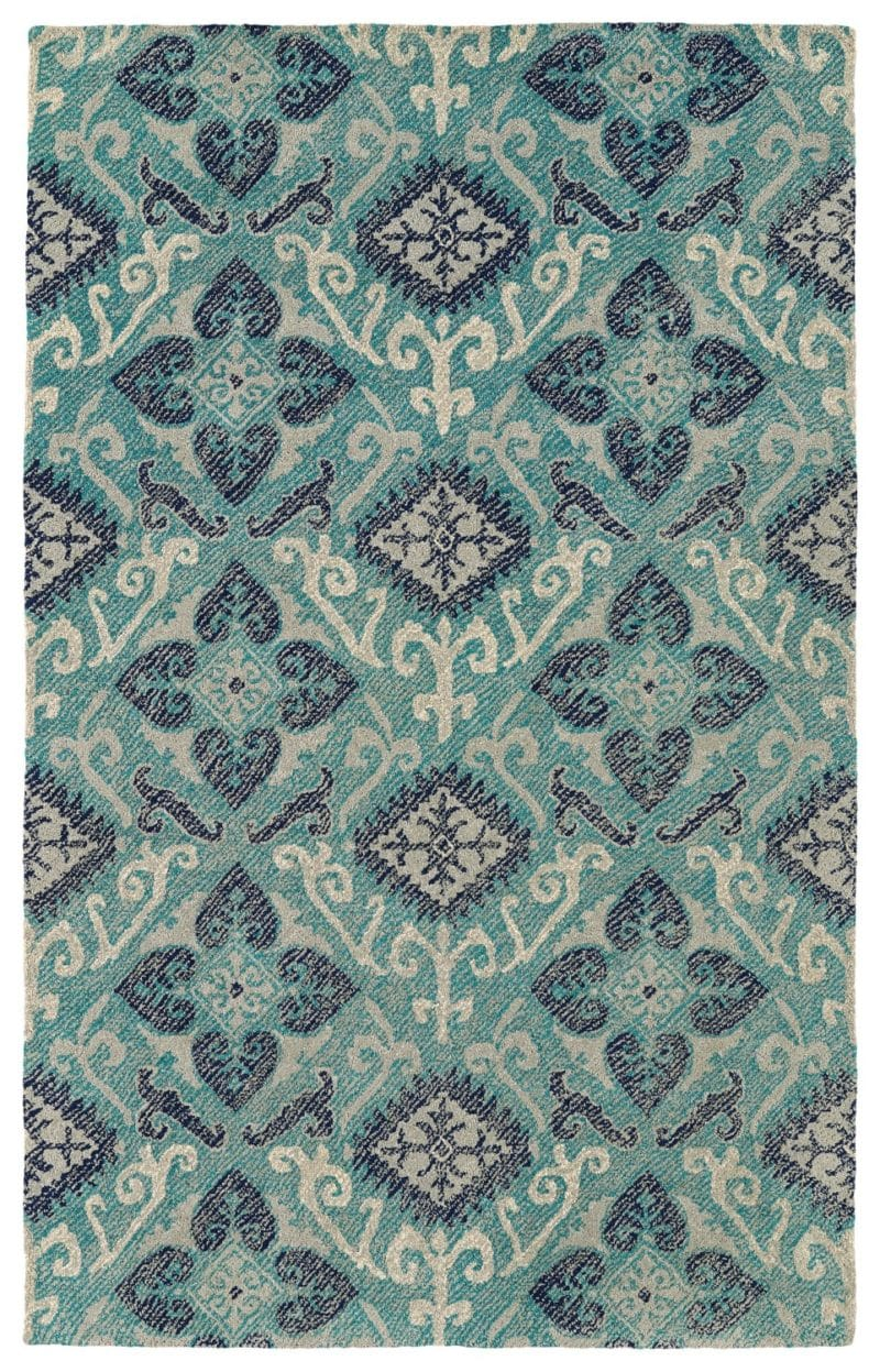 Kaleen Weathered WTR03-91 Teal Rug