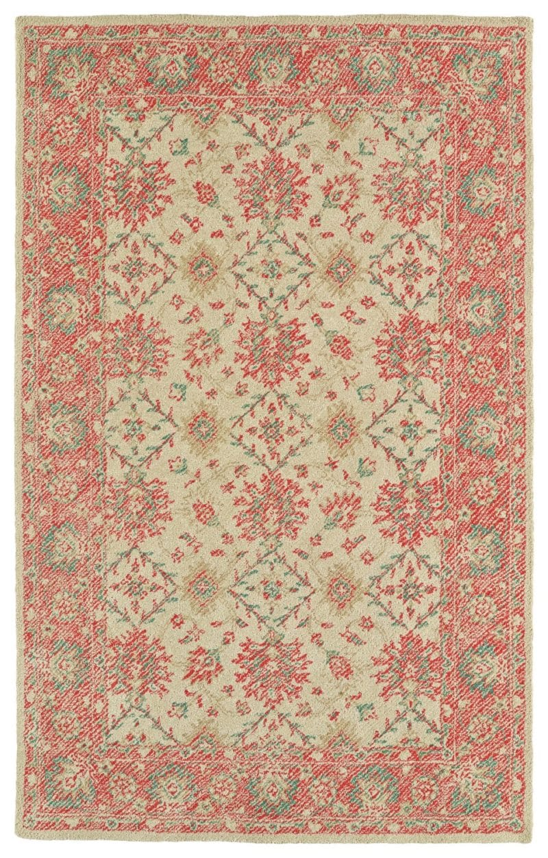 Kaleen Weathered WTR06-36 Watermelon Rug