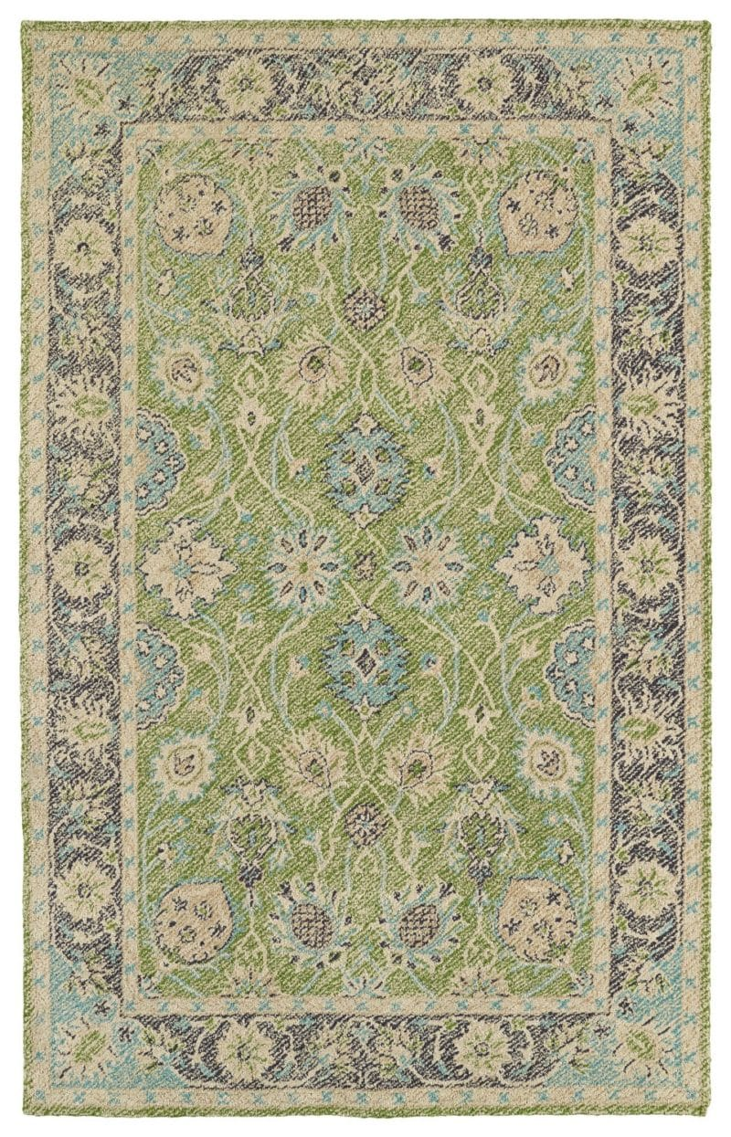 Kaleen Weathered WTR08-96 Lime Green Rug